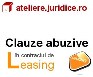 Clauze abuzive in contractul de leasing