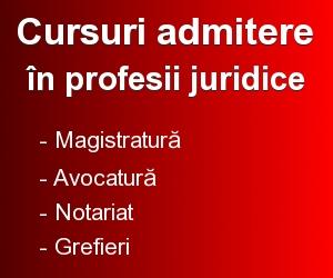 Admitere profesii juridice