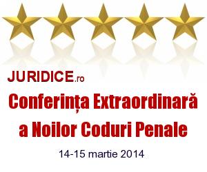 Conferinta Extraordinara a Noilor Coduri Penale