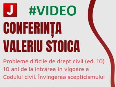Conferinta Valeriu Stoica