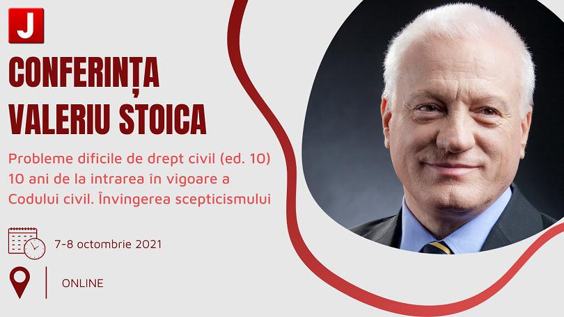 Conferinta Valeriu Stoica 2021