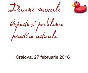 Daune morale - Craiova