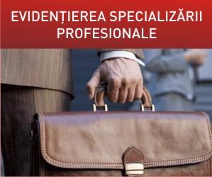 Evidentierea specializarii profesionale