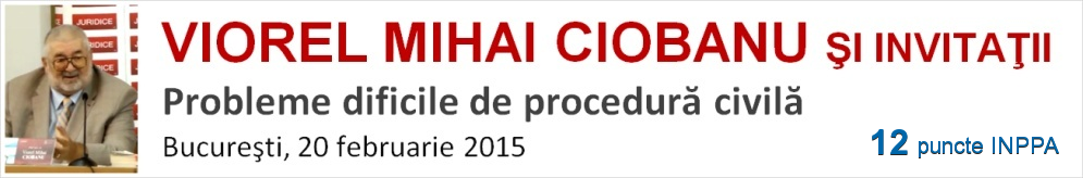 Viorel Mihai Ciobanu - Procedura civila