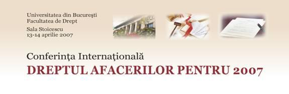 Conferinta Dreptul Afacerilor 2007